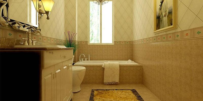 欧式风格三室一厅简欧设计风格卫生间装修效果图片