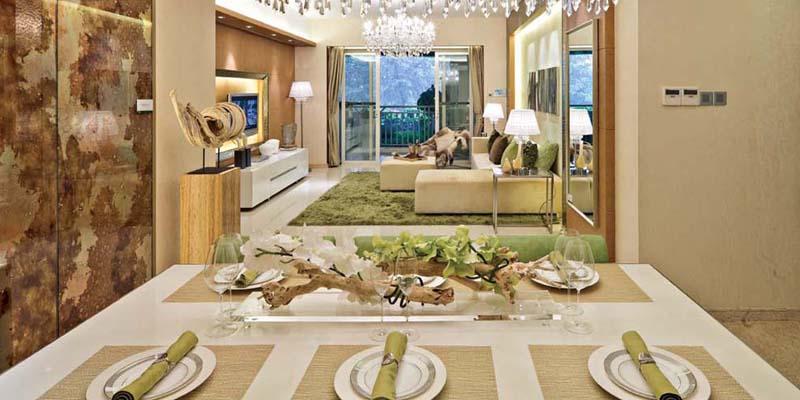 新古典主义风格锦上华庭两室一厅房屋餐厅装修效果图