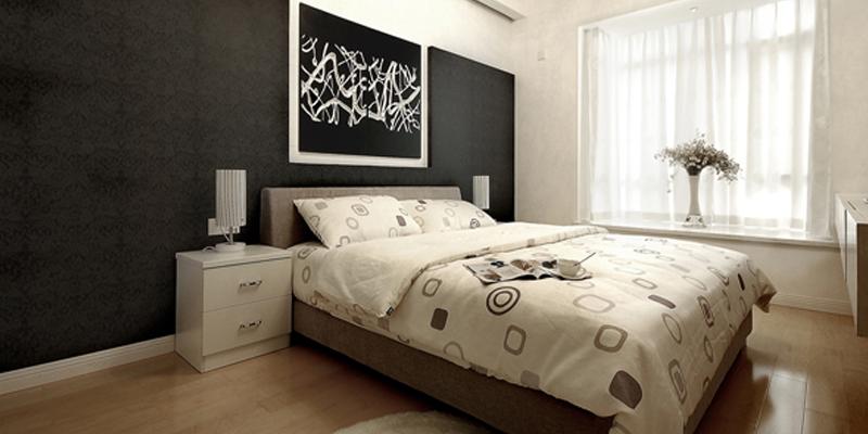 现代简约风格两室一厅房屋卧室装修设计效果图