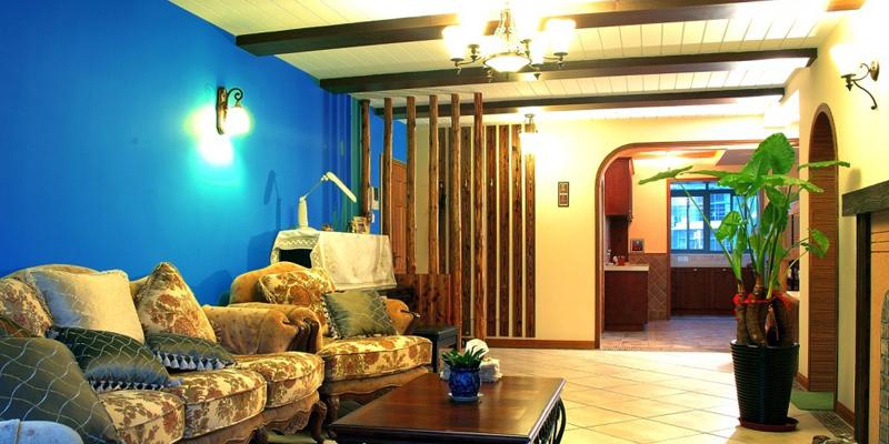 地中海风格三室两厅装修案例效果图片