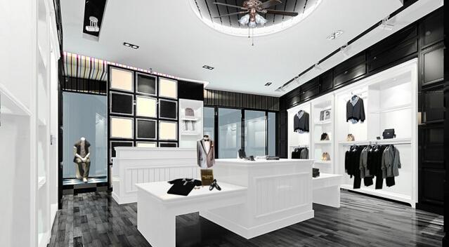 服装店装修设计效果图-重庆工装之服装店装修风格及装修效果图欣赏高清图片