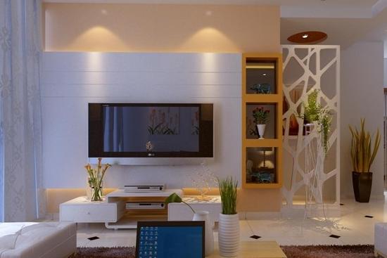 家庭客厅影视墙装修效果图欣赏