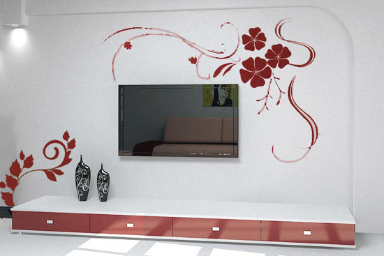 今天 重庆港宏装修设计公司小编就 家庭客厅影视墙装修效果图分享给
