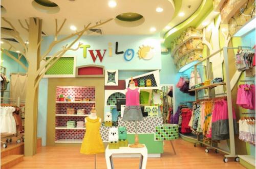 时尚儿童服装店装修效果图欣赏