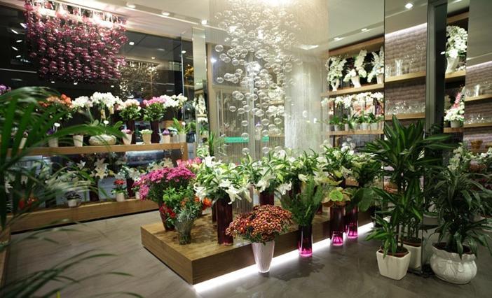 小型花店装修效果图之欧式:        自然的范围很广,但是对于