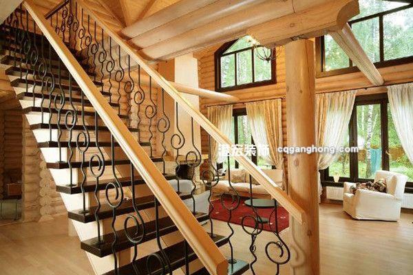 将空间布局展现得格外的温馨,楼中楼的楼梯设计以实木的扶手为装修