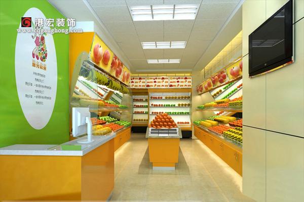 灯光的照明效果可以影响整个水果店的气