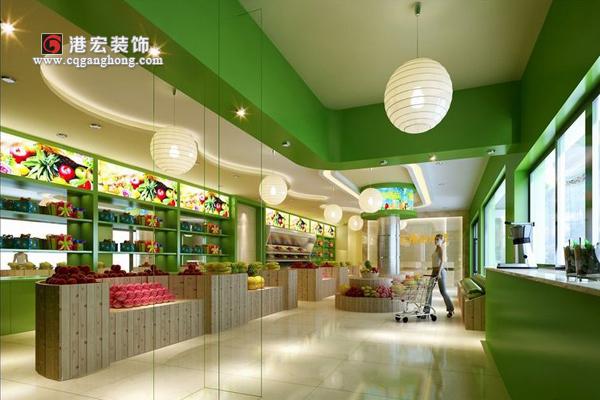 精美水果店装修效果图欣赏,在装修水果店的时候要注意些什么