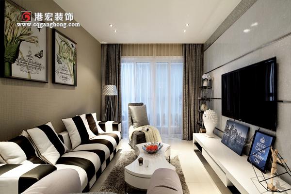 90平米两室两厅房屋装修效果图欣赏