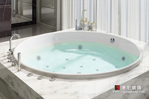 圆形浴缸尺寸规格_圆形浴缸安装图解