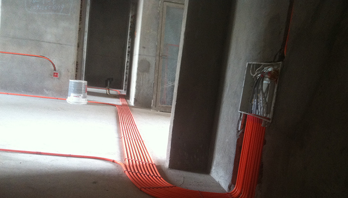 港宏装饰雅居乐美式风格在建装修工程,水电工程图