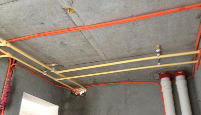 港宏装饰招商科苑美式风格在建装修工程,水电工程图