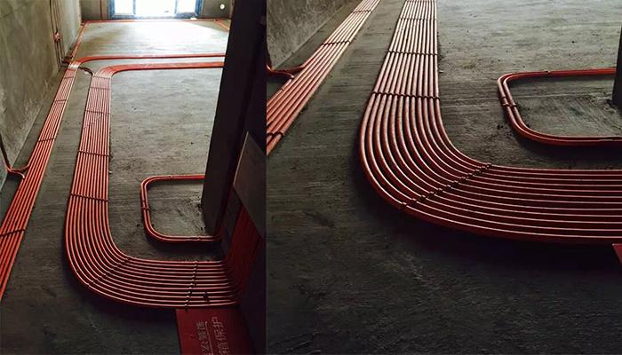 港宏装饰大学城熙地锦绣城美式风格在建装修工程,水电工程图